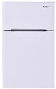 Costway 2-Door Compact Refrigerator