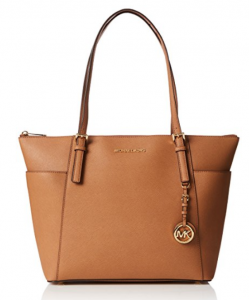 Michael Kors Saffiano Leather Jet Set Tote Bag