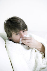 Having cold and flu, is best to rest, take fluids, colloidal silver, check with doctor.
